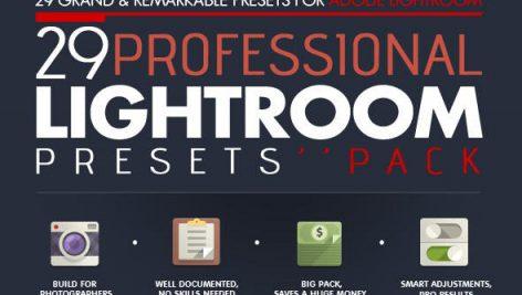 دانلود ۲۹ پریست لایت روم : Professional 29 Lightroom Presets Pack VoL.1