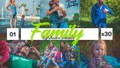 دانلود 30 پریست لایت روم حرفه ای : Family Lightroom Presets