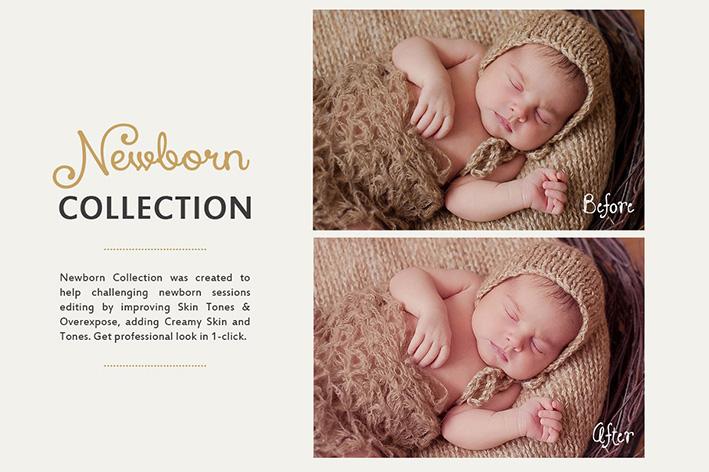 دانلود 30 پریست لایت روم کودک creativemarket Newborn Lightroom Presets
