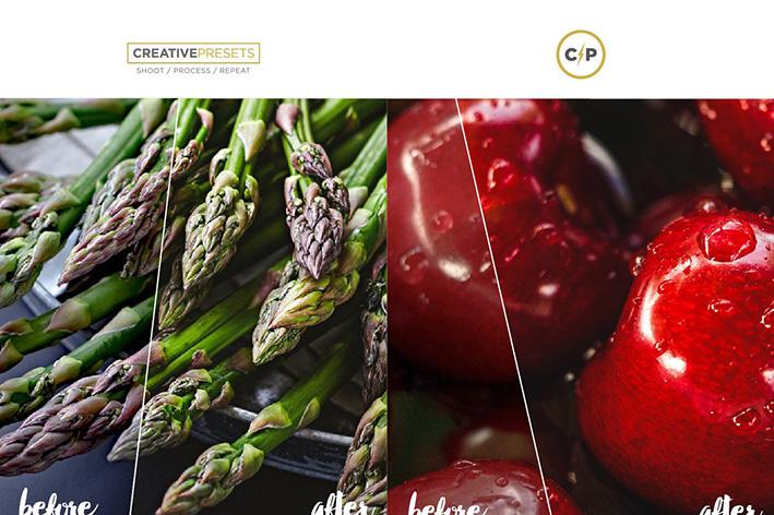 دانلود 30 پریست لایت روم  Food Photography Lightroom Presets