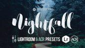 دانلود 30 پریست لایت روم Nightfall Lightroom ACR Presets
