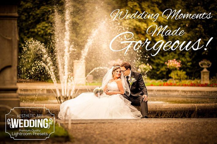 دانلود 31 پریست لایت روم عروسی  Aesthetic Wedding Lightroom Presets