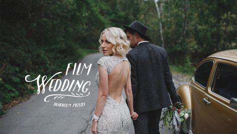 دانلود ۴۰ پریست لایت روم حرفه ای عروسی : Film Wedding Lightroom Presets