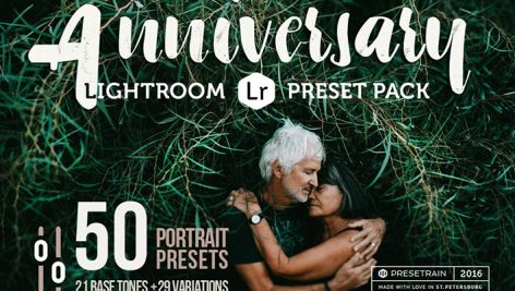 دانلود 50 پریست لایت روم Anniversary - 50 Lightroom Presets