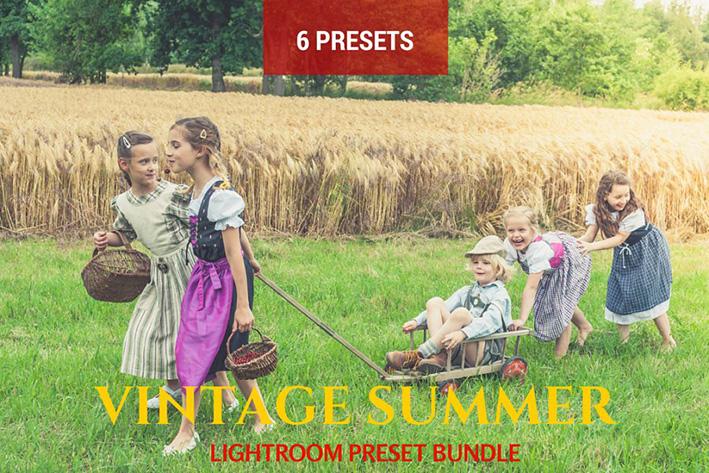 دانلود 6 پریست لایت روم  Summer Vintage Lightroom Presets