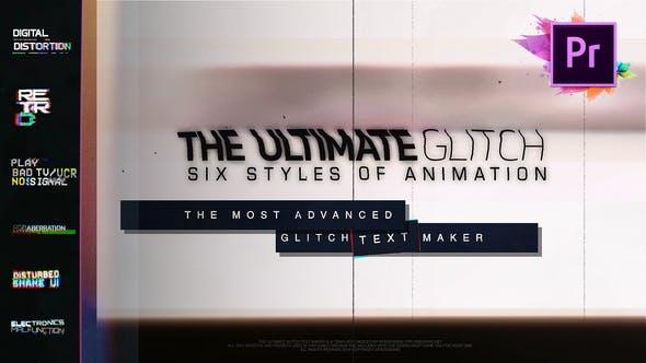 دانلود 70 تایتل آماده برای پریمیر 70 Glitch Title Animation
