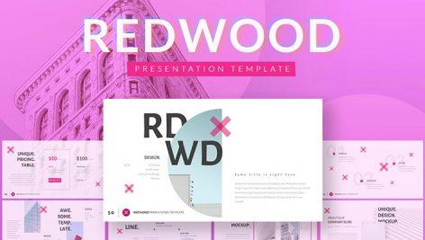 دانلود قالب آماده پاورپوینت REDWOOD Powerpoint Template