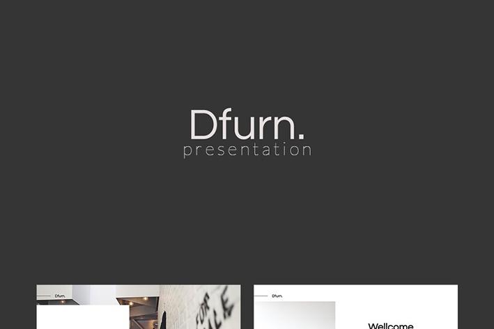 دانلود قالب آماده پاورپوینت Dfurn PowerPoint Template