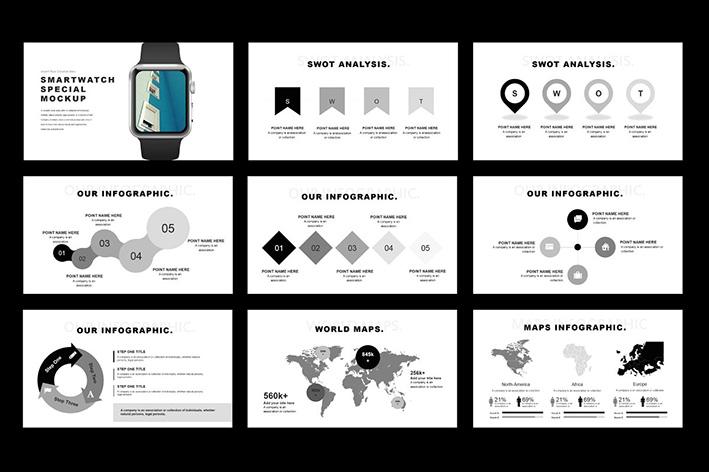 دانلود قالب آماده پاورپوینت Tuxedo Minimal PowerPoint Template