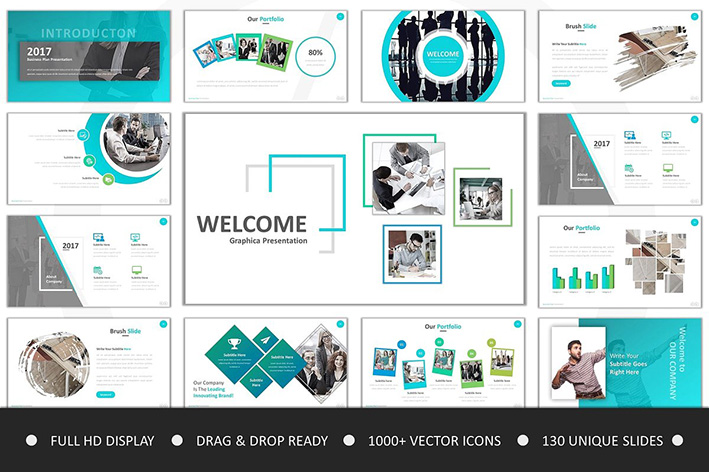 دانلود مجموعه 10 گروه آماده پاورپوینت Clean Bundle Powerpoint