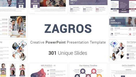 دانلود مجموعه 12000 قالب پاورپوینت Zagros Business PowerPoint Template