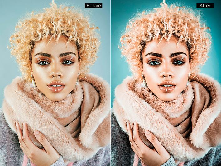 دانلود 35 پریست لایت روم حرفه ای : Orange Portrait Effect Presets