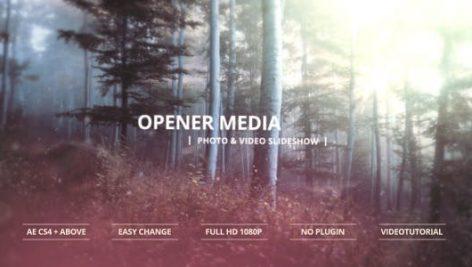 دانلود پروژه آماده افترافکت : اسلایدشو Opener Media Photo And Video Slideshow