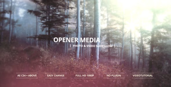 Opener Media – Photo & Video Slideshow 13385570 Videohive – Free Download AE Project  After Effects Version CC 2015, CC 2014, CC, CS6, CS5.5, CS5, CS4 | No plugins | 3840×2160