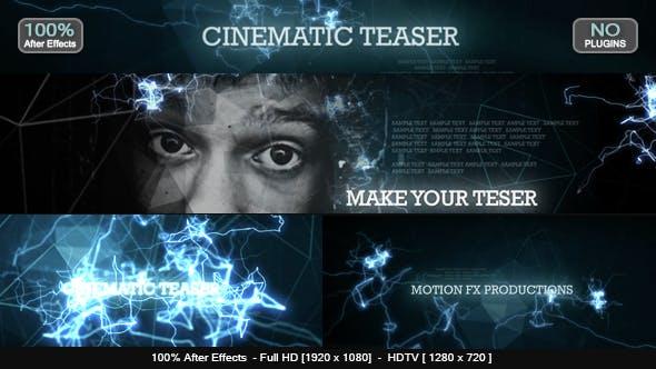 دانلود پروژه آماده افترافکت  تیتراژ فیلم Cinematic Teaser