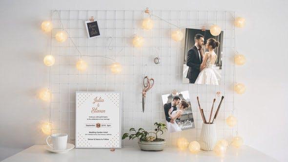 دانلود پروژه آماده افترافکت عروسی : گالری عکس Wedding Invitation Template