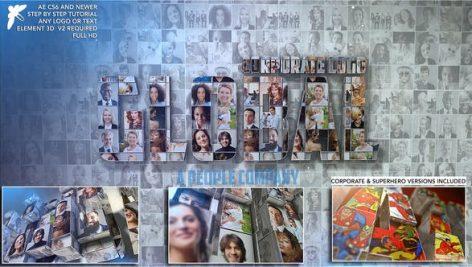 دانلود پروژه آماده افترافکت : معرفی شرکت Corporate Mosaic Logo