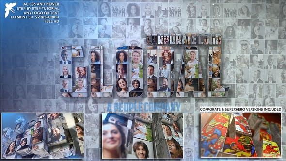 دانلود پروژه آماده افترافکت  معرفی شرکت Corporate Mosaic Logo