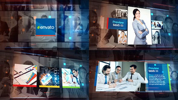دانلود پروژه آماده افترافکت : معرفی شرکت Corporate Promo Slideshow
