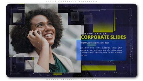 دانلود پروژه آماده افترافکت : معرفی شرکت Clean Corporate Slideshow