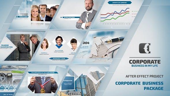 دانلود پروژه آماده افترافکت : معرفی شرکت Corporate Business Package
