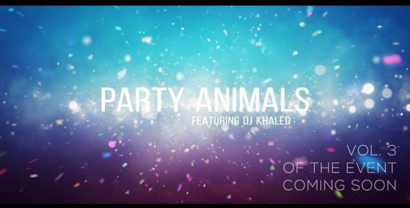 دانلود پروژه آماده افترافکت : تیتراژ فیلم Project Party Animals