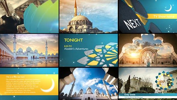 دانلود پروژه آماده افترافکت بمناسبت ماه رمضان : Arabia TV Ramadan Ident Package
