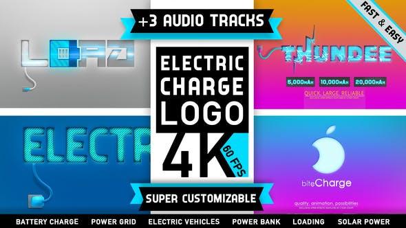 دانلود پروژه آماده افترافکت : نمایش لوگو Electricity Logo Charge Battery Energy