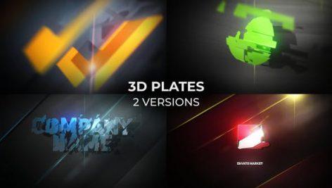 دانلود پروژه آماده افترافکت : نمایش لوگو 3D Plates Logo