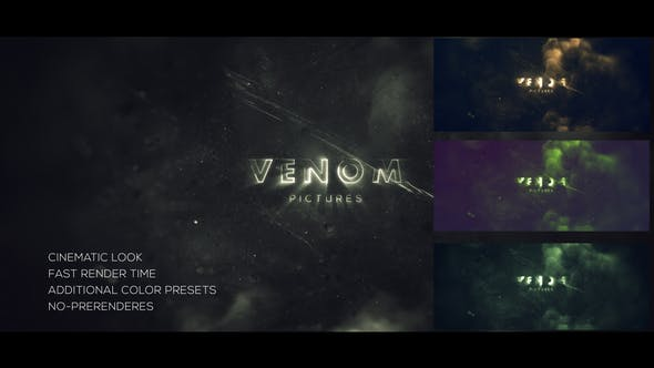 دانلود پروژه آماده افترافکت : نمایش لوگو Venom Logo Reveal