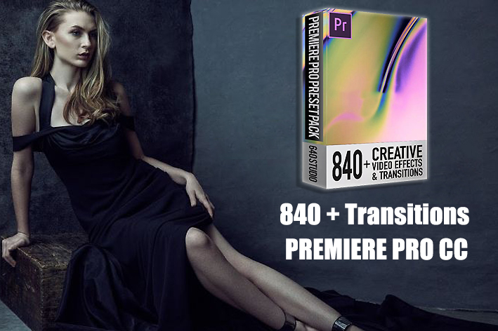 دانلود 840 ترنزیشن پریمیر : STUDIO 640 - 840 TRANSITIONS PACK FOR PREMIERE PRO