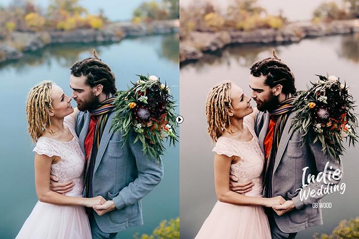 دانلود 32 پریست لایت روم حرفه ای عروسی : Indie Wedding Presets