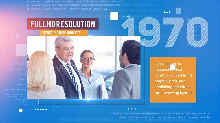 دانلود پروژه آماده افترافکت : معرفی شرکت Corporate Timeline Presentation
