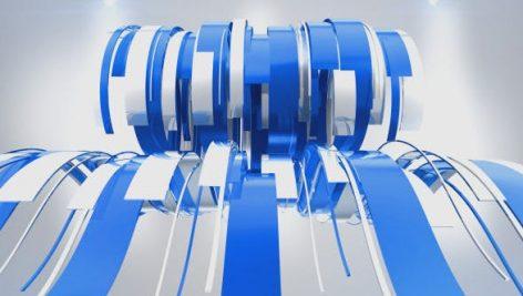دانلود پروژه آماده افترافکت : نمایش لوگو Wavy Ribbons Logo Reveal