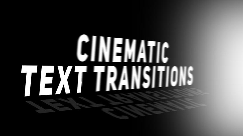 دانلود ترنزیشن تایتل حرفه ای و زیبای پریمیر  Cinematic Text Transitions Premiere Pro