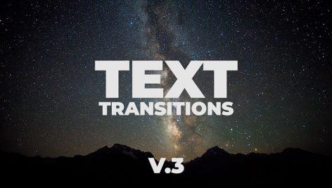 دانلود ترنزیشن تایتل حرفه ای و زیبای پریمیر : motionarray Universal Text Transitions V.3