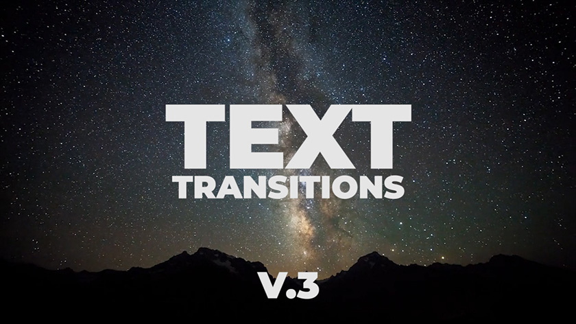 دانلود ترنزیشن تایتل حرفه ای و زیبای پریمیر  motionarray Universal Text Transitions V.3
