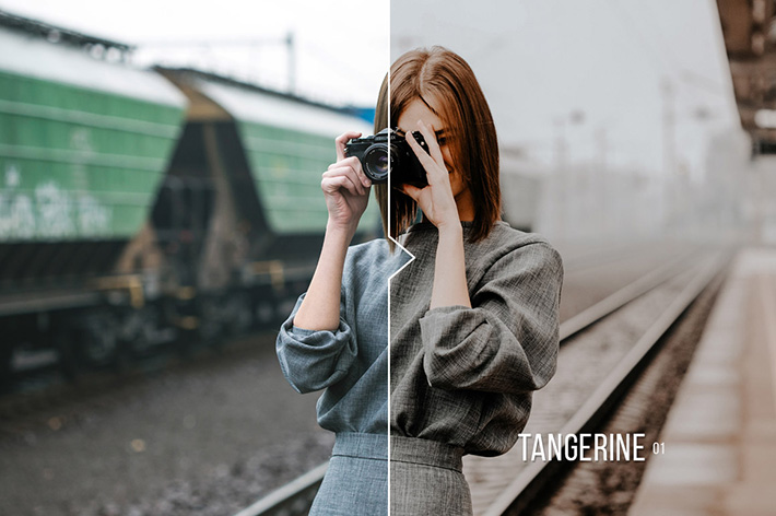 دانلود 20 پریست لایت روم : Tangerine 20 Portrait Presets for Lightroom & ACR