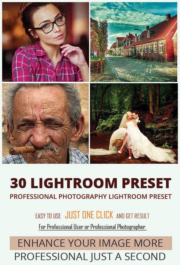 دانلود 30 پریست لایت روم : Graphicriver 30 Photography Lightroom Preset