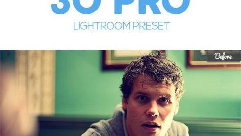 دانلود ۳۰ پریست لایت روم : Graphicriver 30 Pro Lightroom Preset