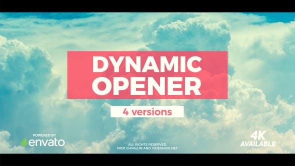 دانلود پروژه آماده افترافکت  تیتراژ فیلم videohive Dynamic Opener
