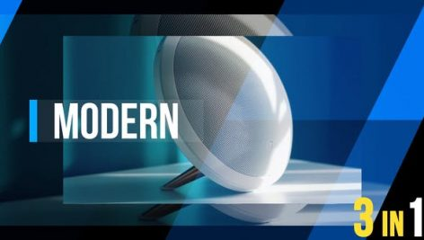 دانلود پروژه آماده افترافکت : تیتراژ فیلم videohive Modern Dynamic Opener 3 in 1