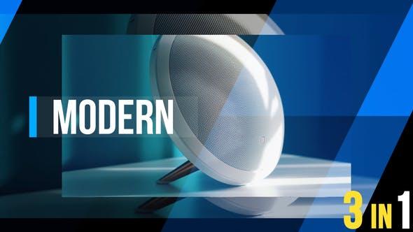 دانلود پروژه آماده افترافکت تیتراژ فیلم videohive Modern Dynamic Opener 3 in 1