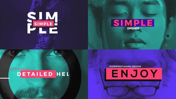 دانلود پروژه آماده افترافکت  تیتراژ فیلم videohive Simple Opener