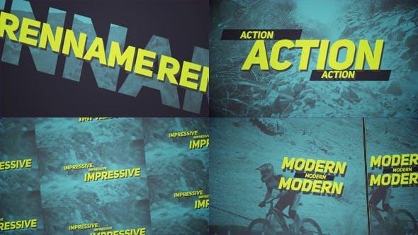 دانلود پروژه آماده افترافکت  تیتراژ فیلم videohive Sport Opener