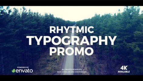 دانلود پروژه آماده افترافکت : تیتراژ فیلم videohive Typography Promo