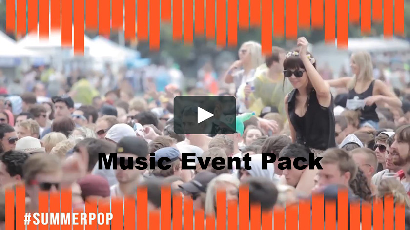 دانلود پروژه آماده پریمیر  اسلایدشو  motionarray Music Event Pack