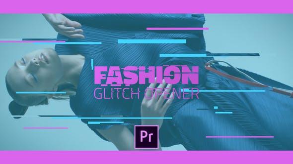 دانلود پروژه آماده پریمیر : تیتراژ Fashion Glitch Opener Premiere Pro Templates