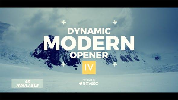 دانلود پروژه بسیار زیبای افترافکت با موضوع تیتراژ حرفه ای بنام videohive Dynamic Opener