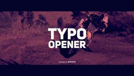 دانلود پروژه آماده افترافکت : تیتراژ فیلم videohive Dynamic Typo Opener
